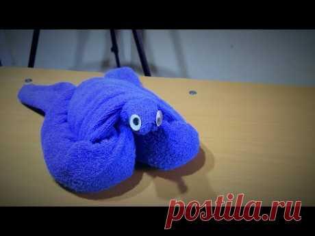 Tutorial menghias hantaran handuk menjadi kura - kura ( how to make towel turtle ) - YouTube