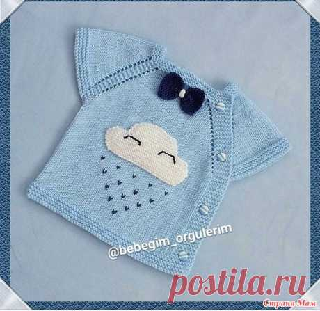 Interesting children's bezrukavochka, with a lateral fastener - Knitting - the Country of Mothers