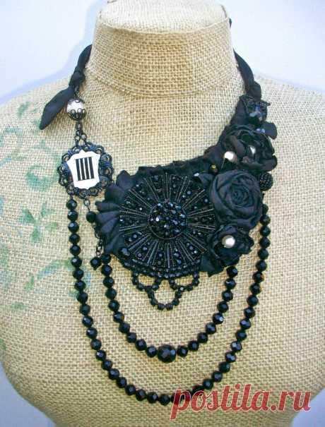 Текстильные украшения и воротник-украшение
