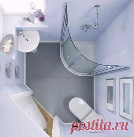 Идеи для маленькой ванной - полезные советы