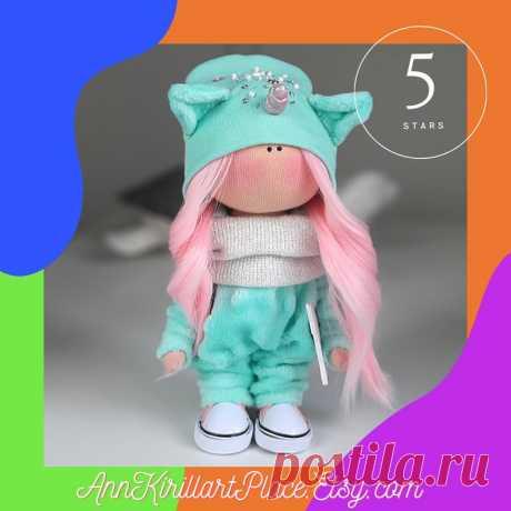 Unicorn Doll Handmade Interior Decor Doll Winter Nursery | Etsy