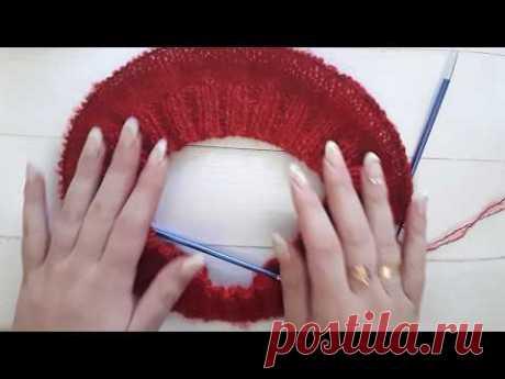 Как вязать росток? | Вязание для женщин спицами. Схемы вязания спицами