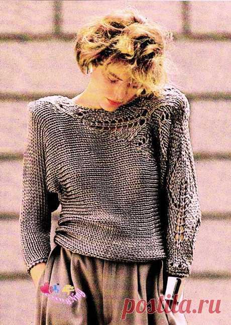 Необычный пуловер  спицами -  Буськины записки — LiveJournal