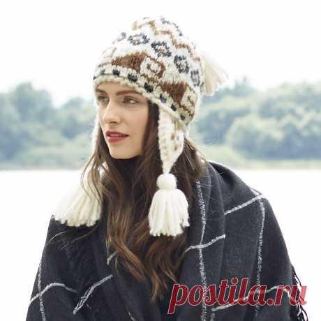 «Перуанская» шапка Сhullo — типичная перуанская шапочка с теплыми наушниками, украшенными кистями.