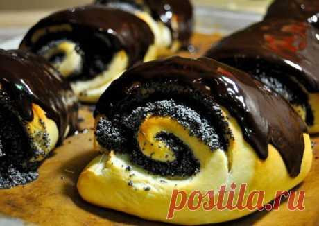 Маковые рулеты с шоколадной глазурью - пошаговый рецепт с фото. Автор рецепта Юлия Савкина🏃♂️ ✈️ . - Cookpad