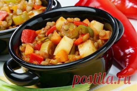 Овощное рагу с курицей рецепт – основные блюда