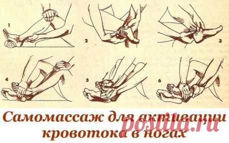 SELF-MASSAGE FOR ACTIVATION OF THE BLOOD-GROOVE IN LEGS