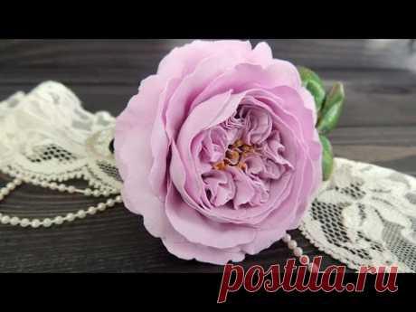 Пионовидная роза из фоамирана   Tavifa