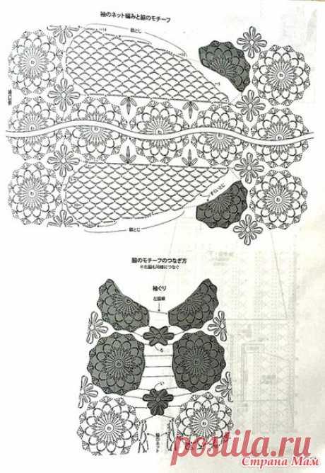 Платье крючком «Шелковая фантазия» — HandMade