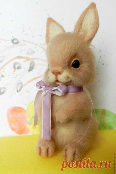 Валяный пасхальный зайчик для начинающих - Ярмарка Мастеров - ручная работа, handmade