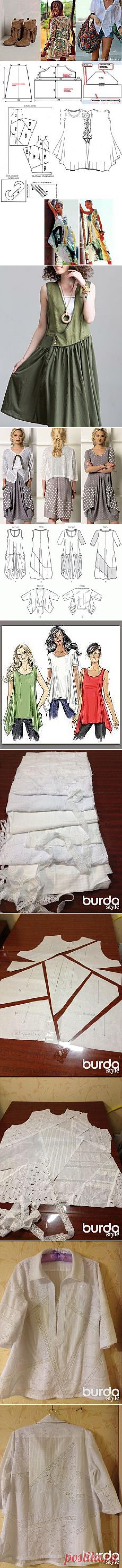 Одежда в стиле бохо с выкройками.