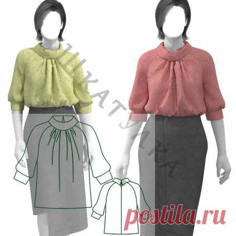 Выкройка женской блузки WT201219   Шкатулка