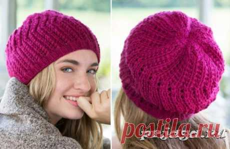 Knitted beret spokes for every day