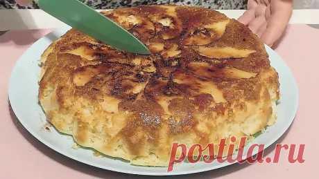 Вкуснее чем из духовки - Яблочный пирог на сковороде.
