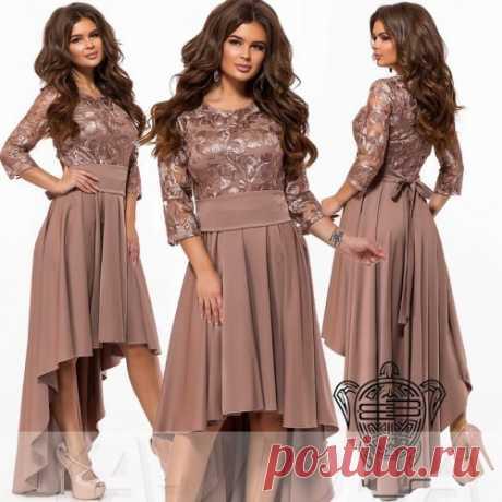 Асимметричное платье с широким поясом