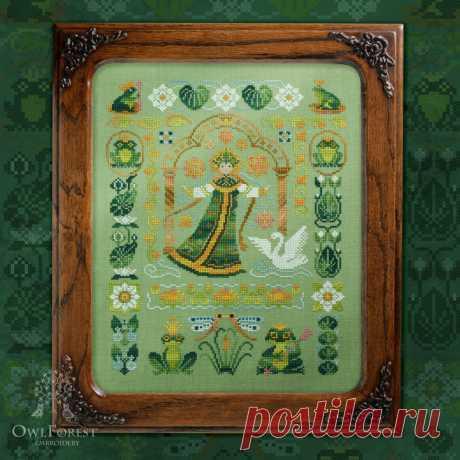 Набор для вышивания «Лягушки-царевны» – Owlforest Embroidery