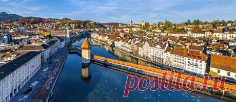 Люцерн, Швейцария   Сферические aэропанорамы, фотографии и 3D виртуальные туры самых красивых городов и уголков нашей планеты, 360° панорамы вокруг света