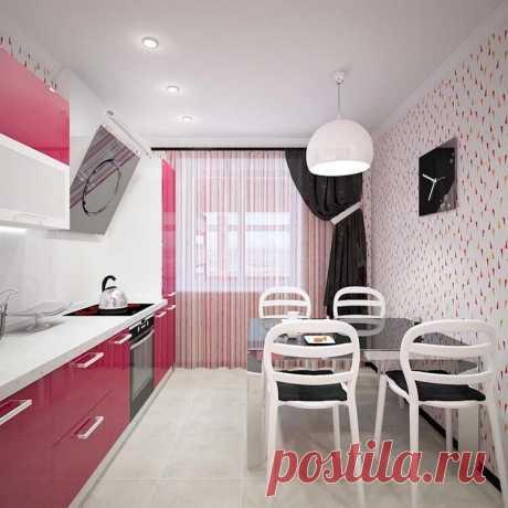 Дизайн кухни 8 кв м - фото новинки с холодильником 2019
