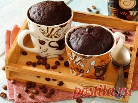 Шоколадный кекс из кружки: готовим себе «к чаю» за десять минут   Наша Дача   Яндекс Дзен