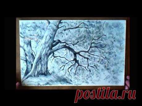 Как нарисовать дерево карандашом/How to draw a tree