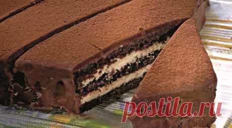 Трюфельный торт Что можно сказать про такой торт… он ВОЛШЕБНЫЙ ! Ингредиенты: горький шоколад...