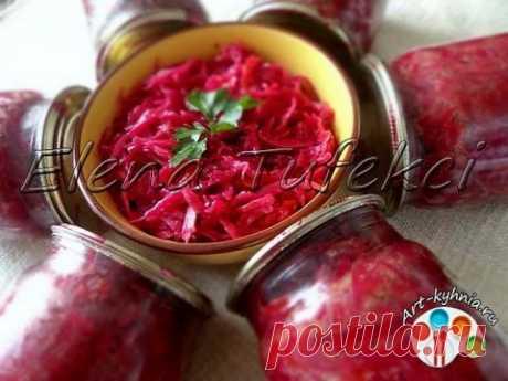 Салат из капусты и свеклы на зиму | 4vkusa.ru