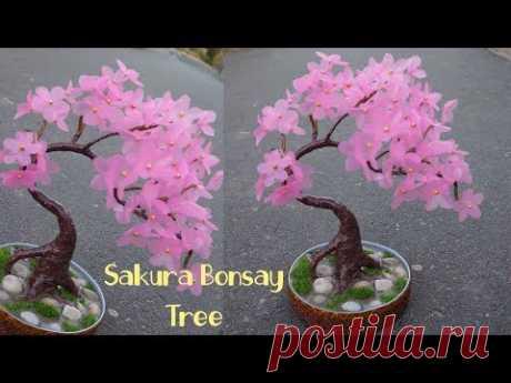 Cara mudah membuat Bunga Sakura dari Plastik Shopping bag ! - YouTube