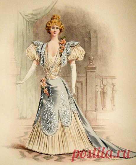 Красивые, но странные картинки из модных журналов конца 19 века   Модная лавка 19 века   Яндекс Дзен