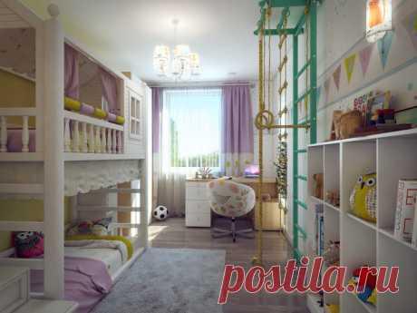 Вдохновляющие дизайнерские идеи, которые помогу оформить детскую комнату | Мой дом