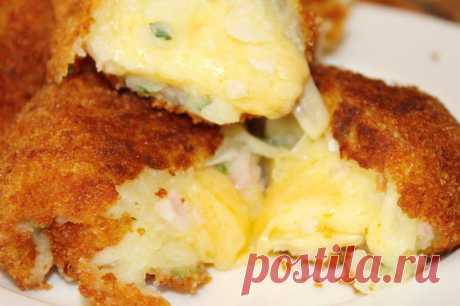 Картофельные шарики сыром