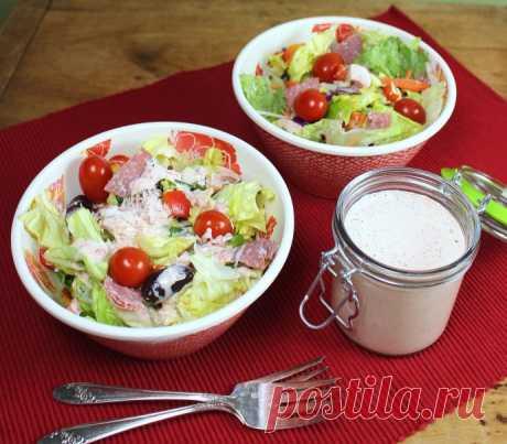 Заправка для салата с йогуртом