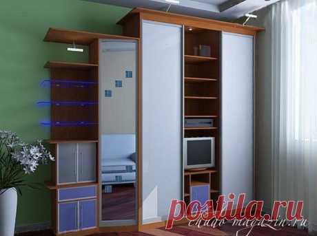 Шкаф купе с полкой для телевизора: фото, цены