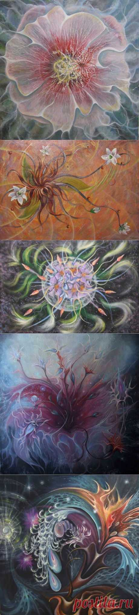 Вселенские цветы от художника Юрия Латухина.