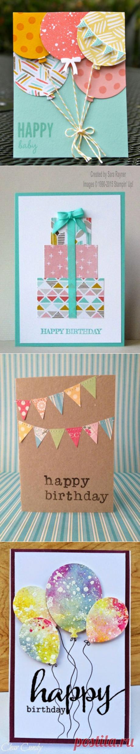 Идеи ярких открыток на День Рождения