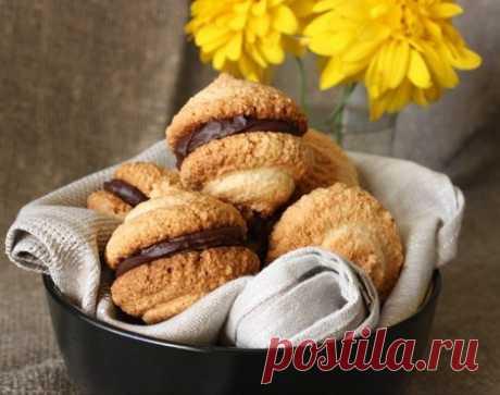 Рецепт миндального печенья с шоколадом на Вкусном Блоге