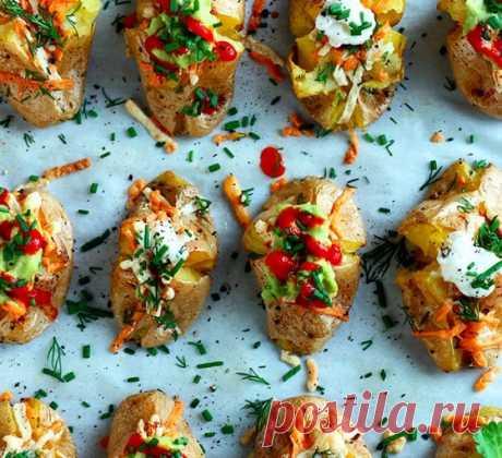 Картофель, фаршированный по-итальянски