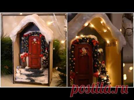 Переделка Фикс Прайс/ Новогодний ночник-домик своими руками - YouTube