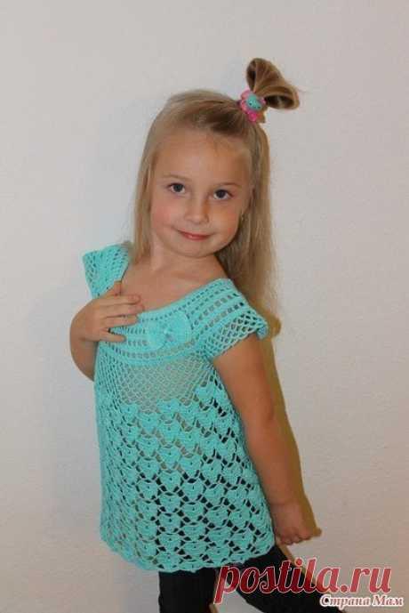 Ажурная туника для девочки 5 лет (Вязание крючком) | Журнал Вдохновение Рукодельницы