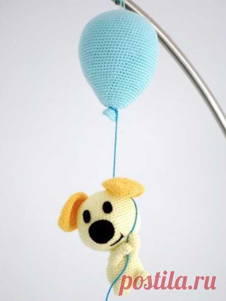 Собачка на воздушном шарике из категории Интересные идеи – Вязаные идеи, идеи для вязания