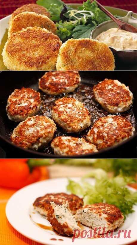 Рецепт сочных и вкусных куриных котлет .
