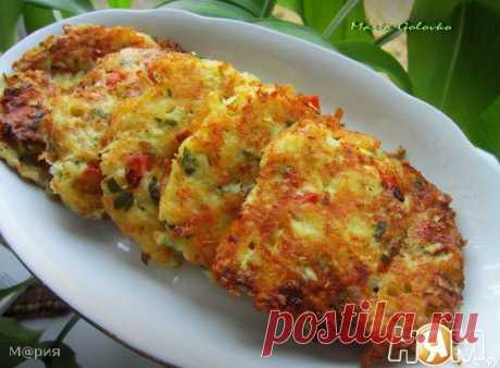 Овощные оладьи с сыром - Рецепт с пошаговыми фотографиями - Ням.ру
