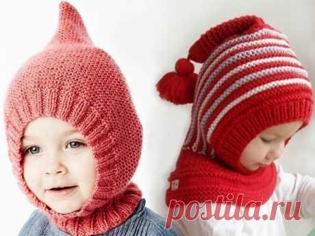Вязаная спицами шапка-шлем для девочки и мальчика Шапка-шлем - удобное и практичное изделие, надежно защищающее уши и горло в холодное время года. Связать такую своему ребенку можно при помощи этих схем.