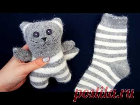 Котик из носка \\ Sock cat