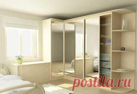 Варианты и чертежи угловых шкафов-купе для дома | Наши дома