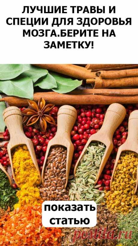 СМОТРИТЕ: Лучшие травы и специи для здоровья мозга.Берите на заметку!