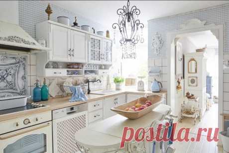 Кухонная мебель в стиле шебби-шик: роскошь и очарование