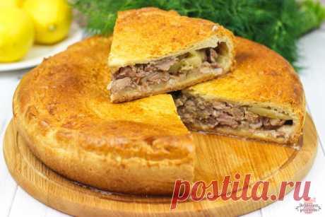 Вкуснейший пирог с мясом и картошкой в духовке (Невероятное тесто!) | Домашние рецепты с Любовью | Яндекс Дзен