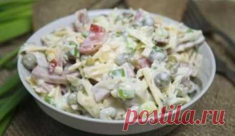 Датский салат - рецепт приготовления салата с грибами и горошком с поэтапной инструкцией («количество фотографий» фото). Попробуй – это просто и вкусно!