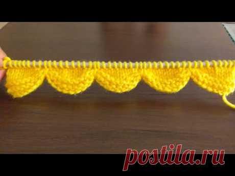 Knitted border | Lace border | Easy Designer Border (Scallop Border)