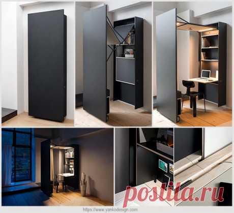 Элегантный навесной шкаф-офис | Идеи домашнего мастера